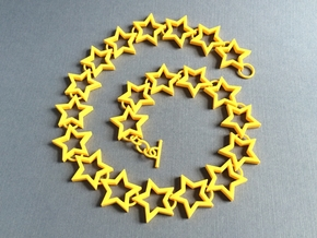 Star Necklace in Yellow Strong & Flexible Polished