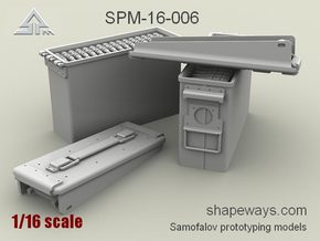 1/16 SPM-16-006 .30cal (7,62mm) ammobox opened in Frosted Extreme Detail