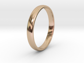 Ring Size 4 1I2 smooth in 14k Rose Gold