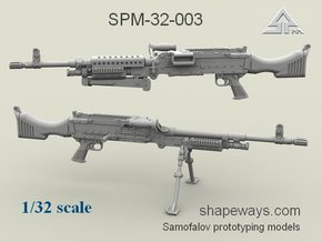 1/32 SPM-32-003 m240 machine gun in Frosted Extreme Detail