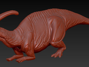 1/40 Parasaurolophus - Prone Alternate in White Strong & Flexible
