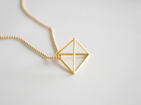 Tetrahedron pendant in 18k Gold Plated