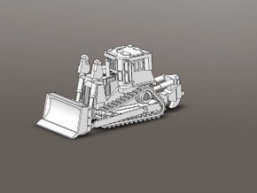 Armored Dozer 1/100 Scale in White Strong & Flexible
