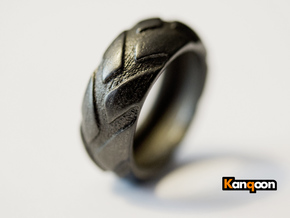 r8x45 - Ring- US 9 - 19 mm inside diameter in Matte Black Steel
