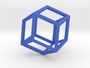 Rhombic Dodecahedron(Leonardo-style model) in Blue Strong & Flexible Polished