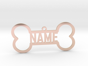 Your Name Bone Pendant in 14k Rose Gold Plated