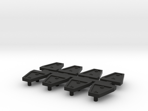 AJ10007 Door Hinge Shields in Black Strong & Flexible