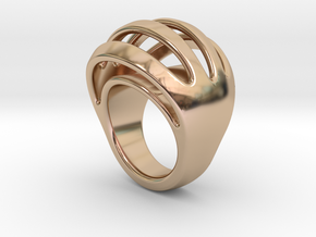 RING CRAZY 26 - ITALIAN SIZE 26  in 14k Rose Gold Plated
