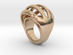 RING CRAZY 27 - ITALIAN SIZE 27  in 14k Rose Gold Plated