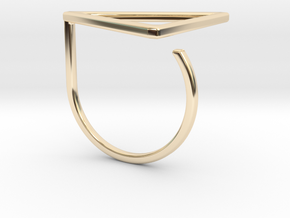 Triangle ring shape. in 14K Gold
