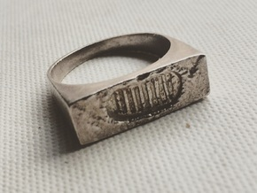 Moonwalk Ring  in Polished Silver: 7 / 54