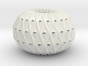 Accordion Ball 3D V1 in White Strong & Flexible