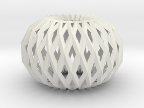 Accordion Ball 3D V2 in White Strong & Flexible
