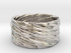Twisted No.1 in Rhodium Plated