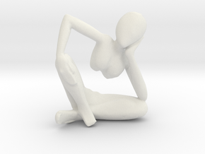 Small African Sculpture in White Strong & Flexible