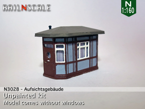 Aufsichtsgebäude (N 1:160) in Frosted Ultra Detail