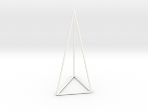 Pyramis Laterata Triangula Inequilatera Vacua in White Strong & Flexible Polished