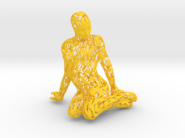 Kneeling Woman 3d printed