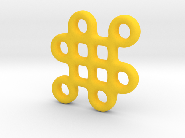 Mystic Knot Pendant 3d printed