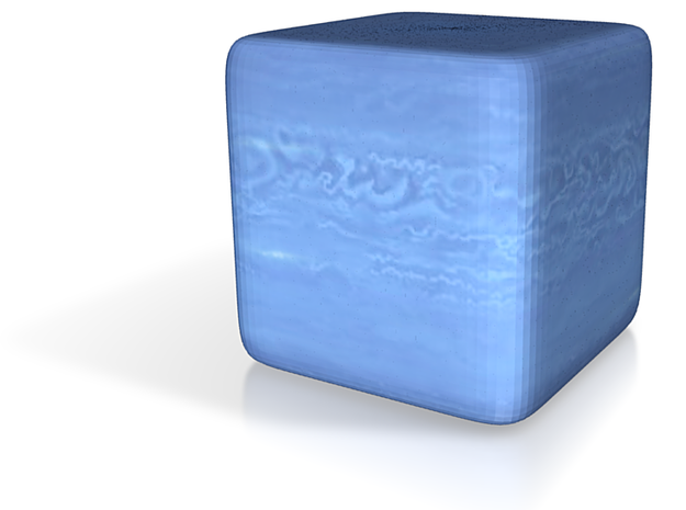 Cube Planet : Neptune, 1 inch 3d printed
