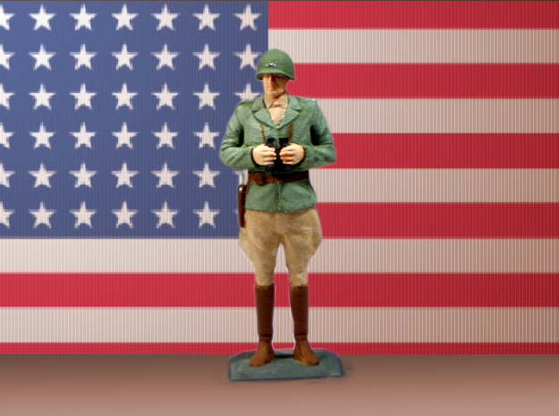 General George S. Patton 3d printed Hand-painted print