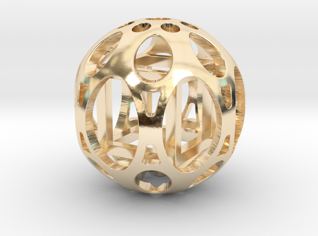Sphere housing a free-to-move cube (Necklace)