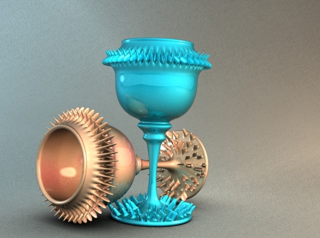 SpikeGlass 3d printed