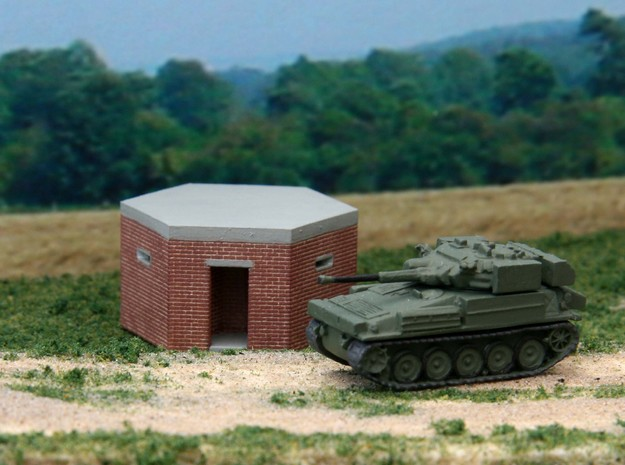 British WW2 Pillbox Type 22 1-148 Scale Brick 3d printed