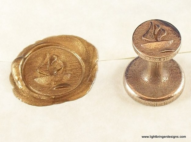 Chalice Wax Seal (Unitarian Universalist) 3d printed The seal you are buying, and the impression it makes