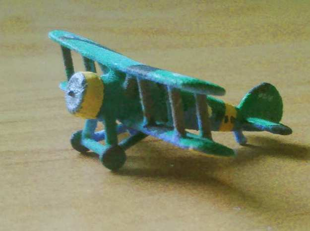 1/300 Gloster Gauntlet x4 3d printed Finnish Model, printed in WSF