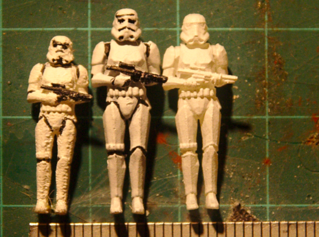 1:72 Stormtrooper in position of Attention - Updat