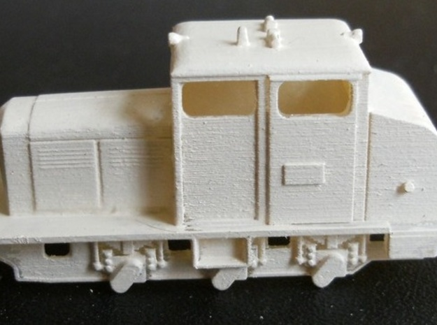 Locotracteur 62 Nm 1:160 3d printed side of model with primer