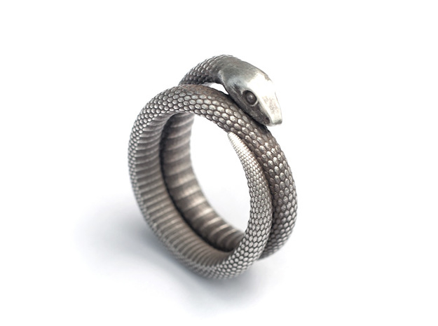 Snake Ring (various sizes) 3d printed