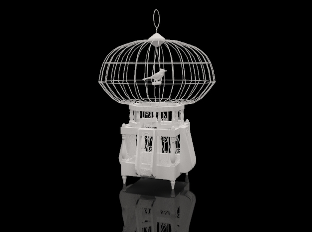 "Cage for birds from the ""COCOLA"" for shapeways 3d printed"