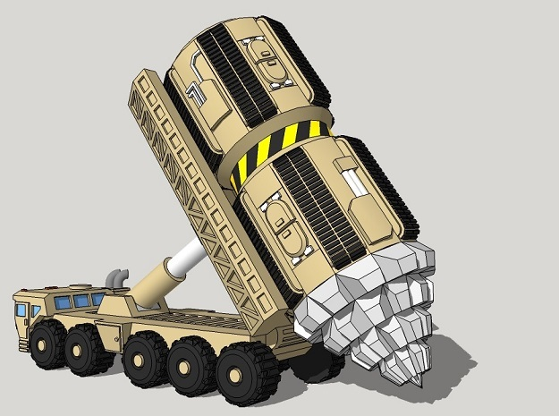 "6mm Space Dwarf ""Vole"" Tunneling Assault Vehicle"