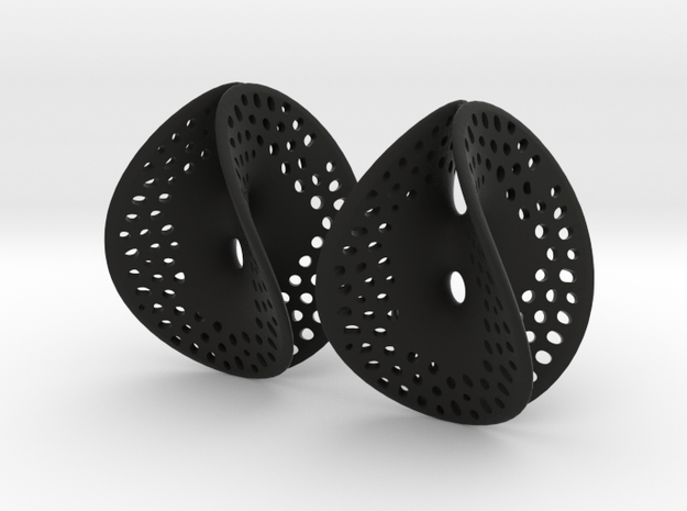 Small Perforated Chen-Gackstatter Thayer Earring 3d printed