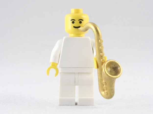 Saxophone 3d printed Painted Frosted Extreme Detail