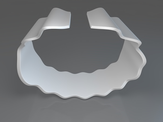 Wavy Bracelet or Napkin holder 3d printed Waves Bracelet - Rendering