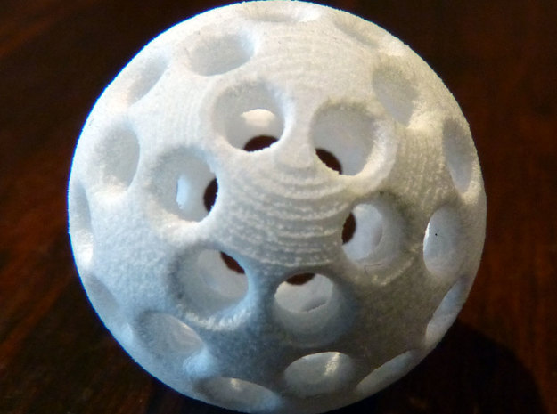 Spherical magnet buckyball scaffold 3d printed