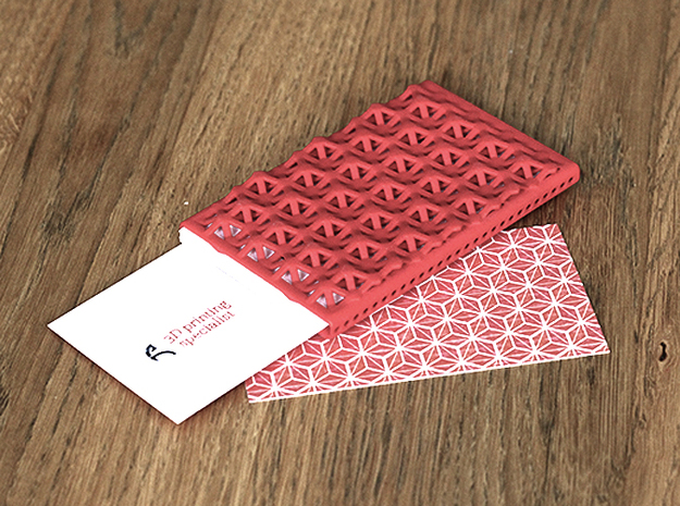 Business card case - CUSTOMIZE! 3d printed Textured backside