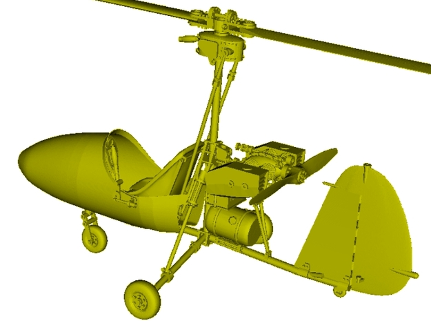 1/16 scale Wallis WA-116 Agile autogyro model kit