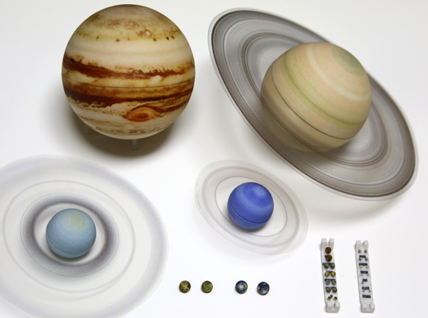 True scale model Solar-System. Moons & all planets