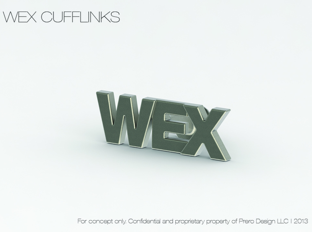 Monogram Cufflinks WEX 3d printed