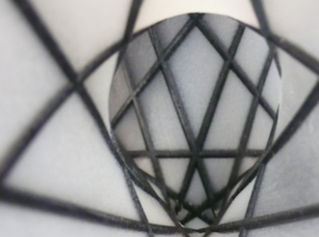 [01] Clebsch Diagonal Surface with Lines 3d printed