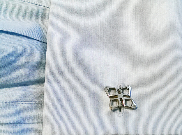 """Head To Head Again"" AHEAD , Bend Cufflinks"