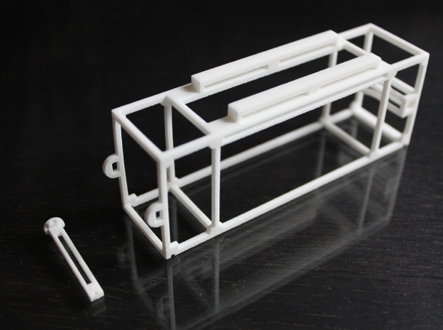 DJI Phantom - 3s Lipo Battery Cage - d3wey 3d printed DJI Phantom 3s Battery Cage