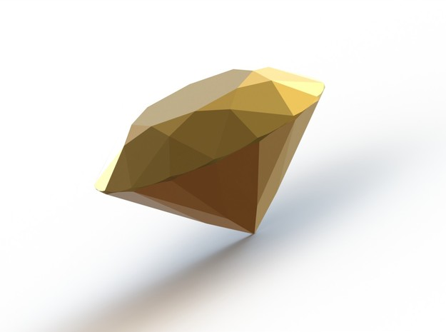 """""""Couture"""" 1 carat brilliant cut diamond 3d printed 1 carat Gold Plated Diamond to fit into """"Couture Classic Four Claw Ring"""""""