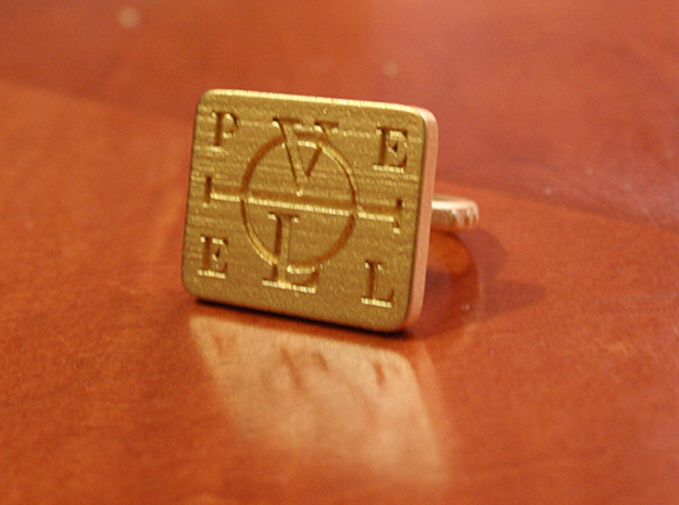Enochian Adjustable 3d printed The Enochian Ring as described by the doctor John Dee