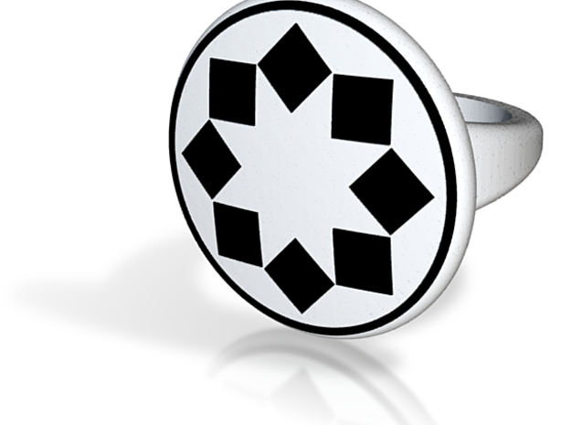 "Dazzle ""Checker"" Pattern Ring - Size 11.5 3d printed"