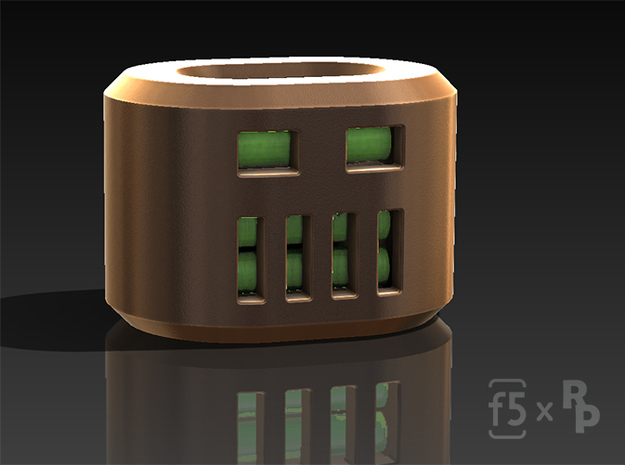 Cyber-Bob the FlatBead 3d printed Rendered image